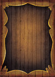 Wooden frame illustration. Artistic Hand painted wooden coutry western frame with copyspace