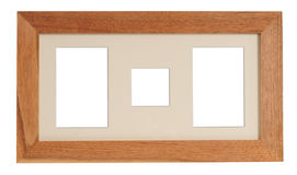 Wooden frame. Isolated Royalty Free Stock Photo