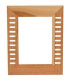 Wooden frame. Isolated Stock Image