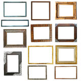 Wooden frame isolated Royalty Free Stock Image