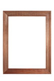 Wooden frame isolated Royalty Free Stock Photos