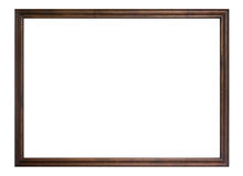 Wooden frame isolated Royalty Free Stock Photo