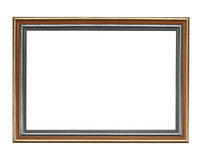 Wooden frame isolated on black background. Royalty Free Stock Photo