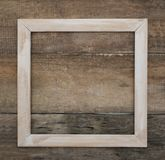 Wooden Frame. Isolated rustic Wooden Background Empty copy space Text Mesage Square Image Stock Image