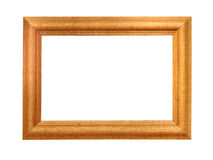 Wooden frame isolated on white Royalty Free Stock Image