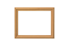 Wooden frame isolated on a white Stock Images