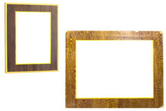 Wooden frame isolated Royalty Free Stock Images