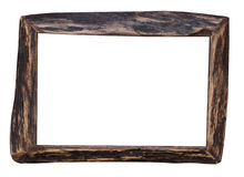 Wooden frame isolated on the white background Royalty Free Stock Image