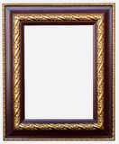 Wooden frame isolated on white background Stock Photos
