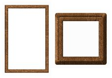 Wooden frame isolated Stock Image