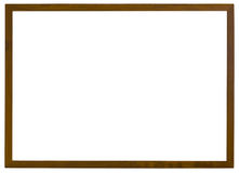 Wooden frame. Isolated on white background with clipping path Royalty Free Stock Photography