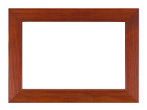 Wooden frame isolated on the white background with clipping path Royalty Free Stock Photos