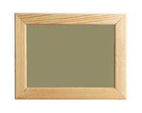 A wooden frame isolated on white background Royalty Free Stock Images