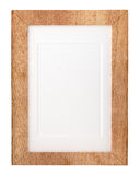 Wooden frame isolated on white background Stock Image
