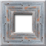 Wooden frame isolated on the white background Stock Photography