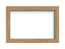 Wooden frame isolated on a white background Stock Photography