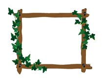 Wooden frame with ivy Stock Images
