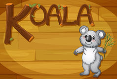 A wooden frame with a koala Stock Image
