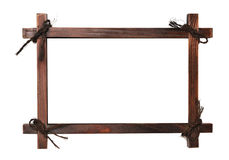 Wooden frame with laces Stock Image