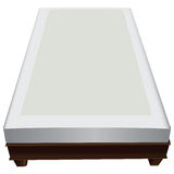Wooden frame with mattress Royalty Free Stock Photo