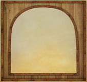 Wooden frame in metal framed Stock Photo