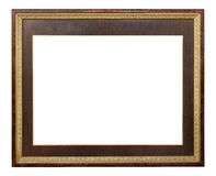 Wooden frame modern vintage isolated white background. Stock Photography