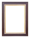 Wooden frame modern vintage isolated white background. Stock Images