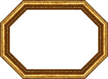 Wooden frame,octagon Stock Photo