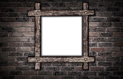 Wooden frame. Royalty Free Stock Photography