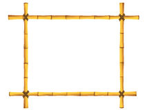 Wooden frame of old bamboo sticks. Stock Photo
