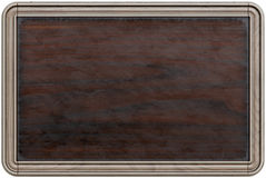 Wooden frame. Old wooden frame blackboard, menu board. isolated on white. 3d rendering Stock Photography