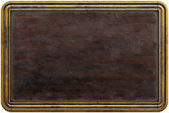 Wooden frame. Old wooden frame blackboard, menu board. isolated on white. 3d rendering Royalty Free Stock Photo