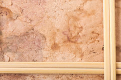 Wooden frame, old paper Stock Images