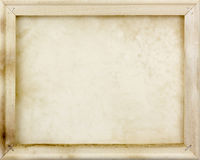 Wooden frame with old paper Royalty Free Stock Photography