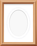 Wooden Frame Oval Mat Photo Picture Stock Photos