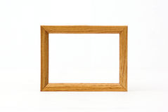 Wooden Frame Over White Royalty Free Stock Photos