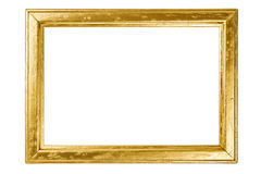Wooden frame painted with gold Stock Images