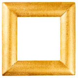 Wooden frame painted with gold Royalty Free Stock Photos