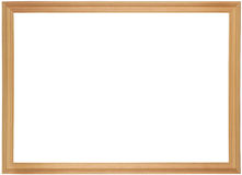 Wooden frame for painting. Or picture on white background Royalty Free Stock Photos