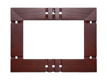Wooden frame for painting Royalty Free Stock Images