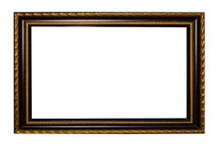 Wooden frame for painting or picture on white background Stock Image