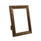 Wooden frame for painting or picture on white background with clipping path. Royalty Free Stock Image