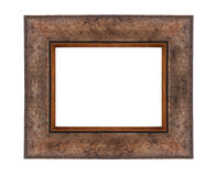 Wooden frame for paintings Royalty Free Stock Image