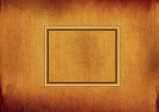 Wooden frame on parchment Stock Images
