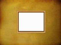 Wooden frame on parchment background Stock Photography