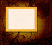 Wooden frame for photo Stock Photography