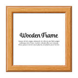 Wooden Frame. For Photo or Pictures, isolated on white background. Vector Illustration stock illustration