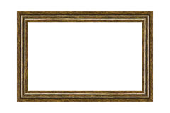 Wooden frame. For photographs or paintings Royalty Free Stock Photos