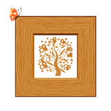 Wooden frame, picture Royalty Free Stock Photo