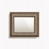 Vector Wooden Frame Royalty Free Stock Images